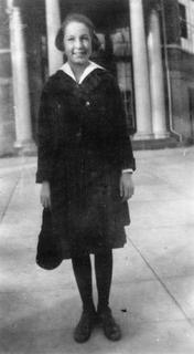 Virginia Apgar on her first day of high school, 1921